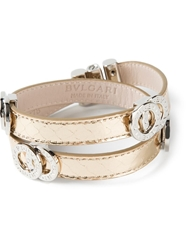 Bulgari Double Coiled Bracelet Metallic
