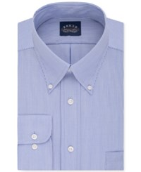 Eagle Men's Classic Fit Stretch Collar Non Iron Blue Solid Dress Shirt