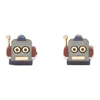 Paul Smith Multicolor Robot Head Toy Cufflinks