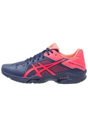 Asics Gelsolution Speed 3 Outdoor Tennis Shoes Indigo Blue Diva Pink