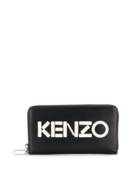Kenzo Monochrome Leather Wallet Black