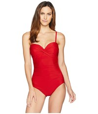 Miraclesuit Rock Solid Madrid One Piece Cayenne Swimsuits One Piece Red