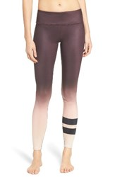 Alo Yoga Women's 'Airbrushed' Glossy Leggings Mink Gradient