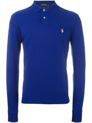 Polo Ralph Lauren Embroidered Logo Shirt Blue