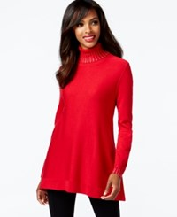Alfani Petite Embellished Turtleneck Sweater Only At Macy's New Red Amore