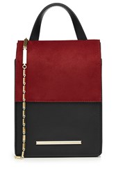Roland Mouret Leather And Suede Shoulder Bag Multicolor