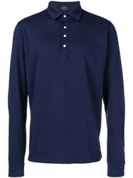 Massimo Piombo Mp Long Sleeve Polo Shirt Blue