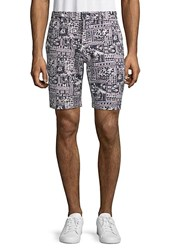 Slate And Stone Printed French Terry Shorts Beach Print