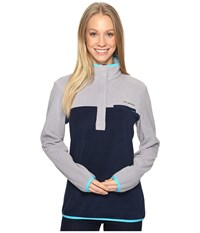 Columbia Mountain Side Pullover Grey Collegiate Navy Women's Long Sleeve Pullover Gray