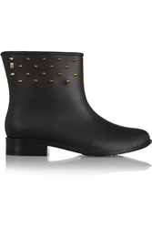 Melissa Moon Dust Spiked Pvc Rain Boots Black