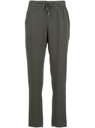 Eileen Fisher Drawstring Waist Trousers Green