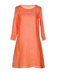 120 Lino Dresses Short Dresses Women Orange