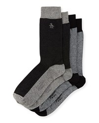 Penguin Pinto Two Pack Sock Set Black Multi