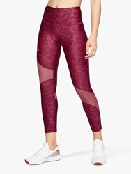 Under Armour Heatgear Printed Cropped Training Tights Pink