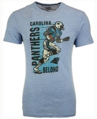 47 Brand '47 Men's Carolina Panthers Running Man Tri Blend T Shirt Gray