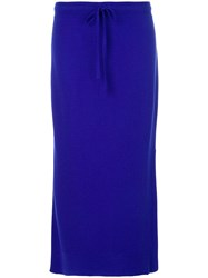 Pringle Of Scotland Casual Mid Length Skirt Blue