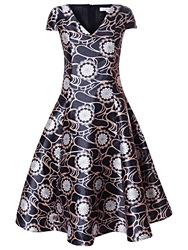 Almari True Decadence Floral Prom Dress Black
