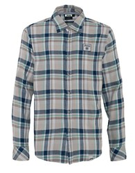 Jeep Flannel Checked Sportshirt Blue