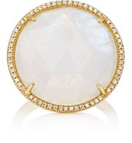 Irene Neuwirth Women's Rainbow Moonstone Round Faced Ring Colorless