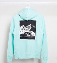 The North Face Back Graphic Hoodie In Mint Green Exclusive At Asos Blue
