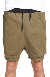 Men's Thing Thing 'The.Com' Layered Shorts Army