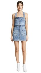Re Done Overall Denim Dress Indigo
