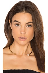 Michelle Campbell Pearl Choker Metallic Gold