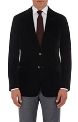 Giorgio Armani Men's Velvet Two Button Sportcoat Black