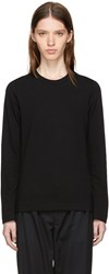Tricot Comme Des Garcons Black Long Sleeve Wool T Shirt