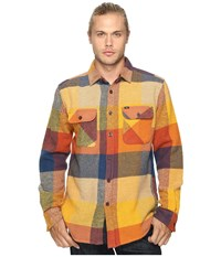 Obey Wallace Woven Brown Multi Men's Clothing