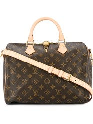 Louis Vuitton Vintage Speedy 30 Bandouliere Handbag Brown