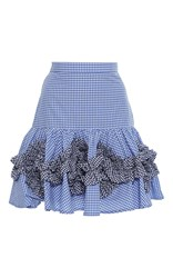 Alexis Daly Fit And Flare Skirt Blue