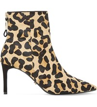 Dune Oralia Leopard Print Pony Ankle Boots Leopard Pony