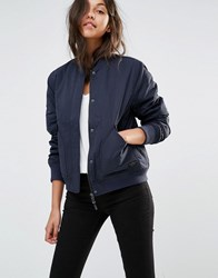 Lee Padded Bomber Jacket Navy Darkness Blue
