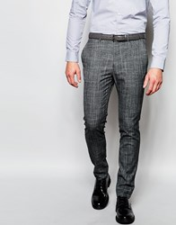 New Look Skinny Fit Suit Trousers In Grey