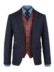 Gibson Men's Navy Window Pane Check Jacket Navy