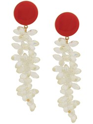 Magda Butrym Stoned Chandelier Earring Red