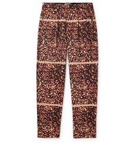 Cav Empt Noise Pleated Printed Cotton Trousers Neutrals