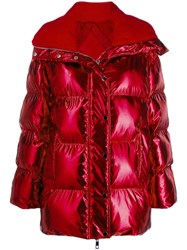 P.A.R.O.S.H. Hooded Padded Jacket Red