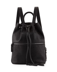 French Connection Mara Drawstring Backpack Black