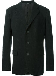 Issey Miyake Men Three Button Blazer Black