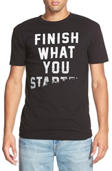 Threadless 'Finish What You Started' T Shirt Black