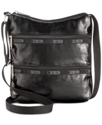 Le Sport Sac Lesportsac Kylie Crossbody Black Crinkle Patent