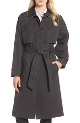 Badgley Mischka Cotton Blend Utility Trench Coat Charcoal