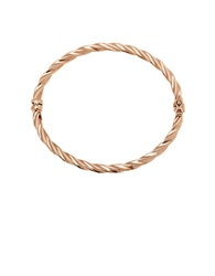 Lord And Taylor 14K Rose Gold Twist Bangle