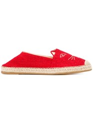 Charlotte Olympia Kitty Espadrilles Red
