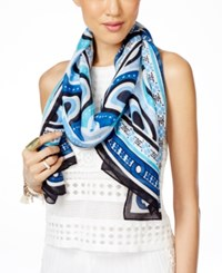 Inc International Concepts Printed Scarf Only At Macy's Blue Multi