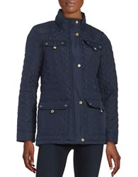 Weatherproof Quilted Parka Jacket Midnight