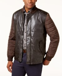 Tasso Elba Men's Pisa Faux Leather Jacket Created For Macy's Sable Brown