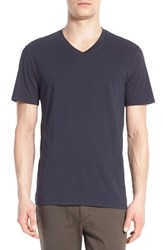 Men's Vince Pima Cotton V Neck T Shirt Heather Carbon